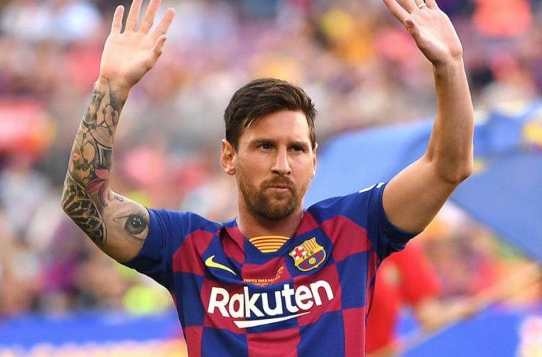 Momente stânjenitoare pentru Messi, în timpul unui interviu. Gestul inexplicabil făcut de prezentator
