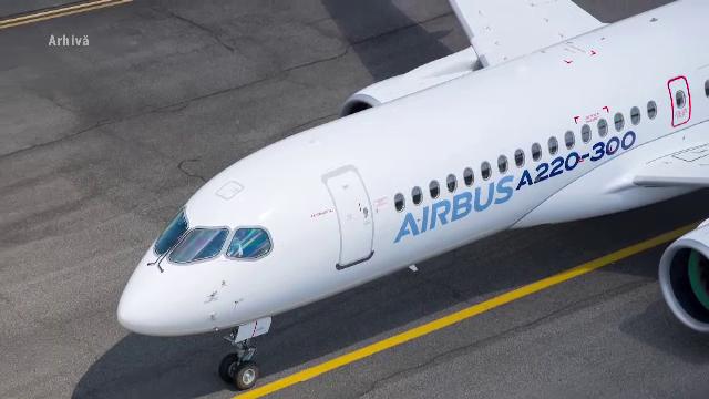Verificări drastice la motoarele a zeci de avioane Airbus 220, după un incident grav