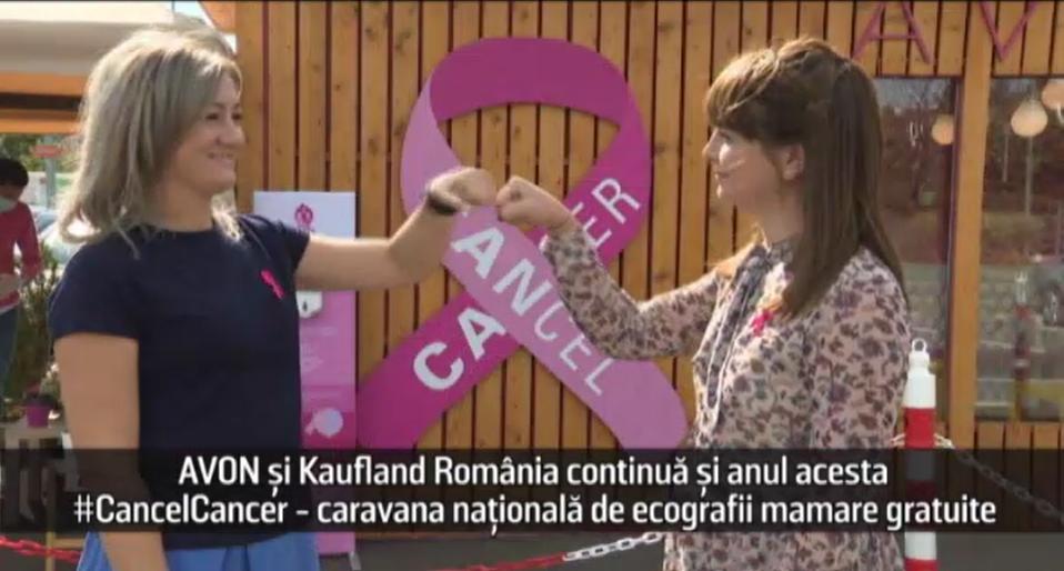 (P) AVON și Kaufland România continuă și anul acesta #CancelCancer - caravana națională de ecografii mamare gratuite