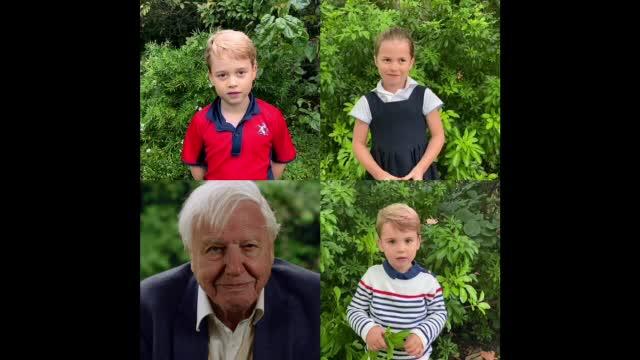 Dialog savuros între copiii ducilor de Cambridge și Sir David Attenborough