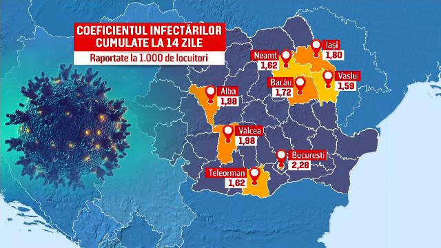 Noi restricții în România, după recordul de îmbolnăviri de sâmbătă. Ce localități au intrat în carantină