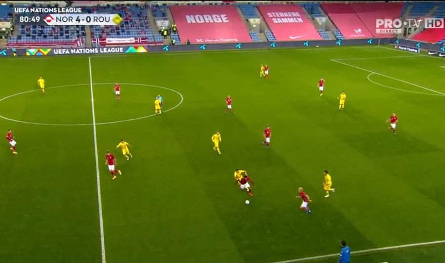 Dezastru pentru România în meciul cu Norvegia din Liga Națiunilor. Elevii lui Rădoi, învinși cu 4-0