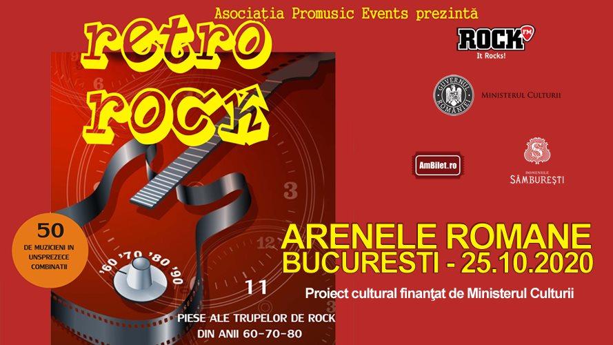 Retro Rock, un concert special cu peste 50 de artiști, la Arenele Romane din București