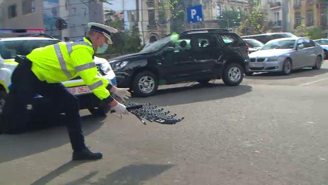 Dispozitivele de oprire forţată au intrat în dotarea Poliției Române