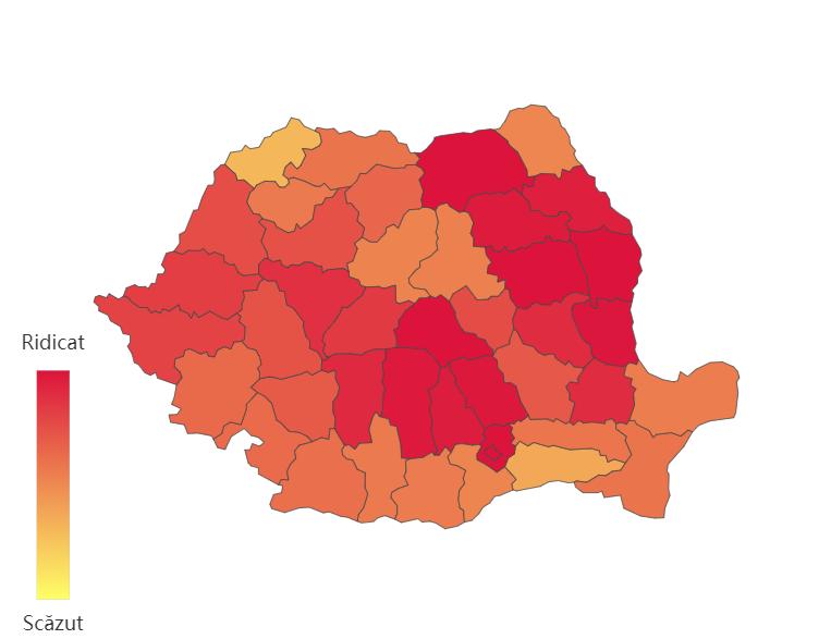 Cele mai multe cazuri de Covid-19 în ultimele 24h, în București și Cluj. Județele cu peste 100 de cazuri