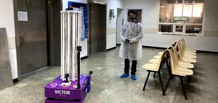 Victor, robotul capabil să distrugă coronavirusul, realizat de o companie românească