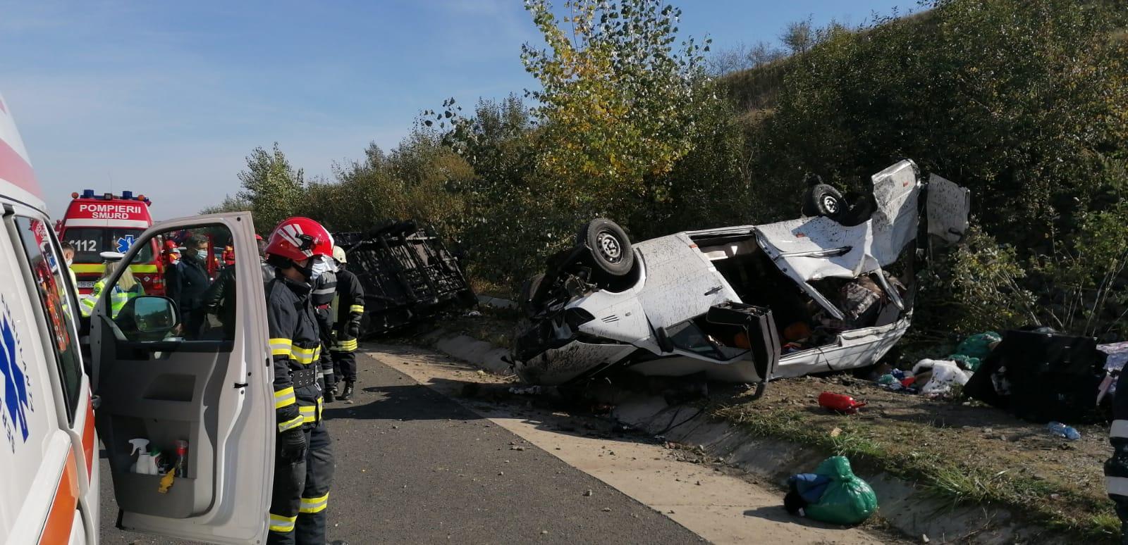 Accident grav pe autostrada A1, cu un mort. A fost activat planul roșu de intervenție