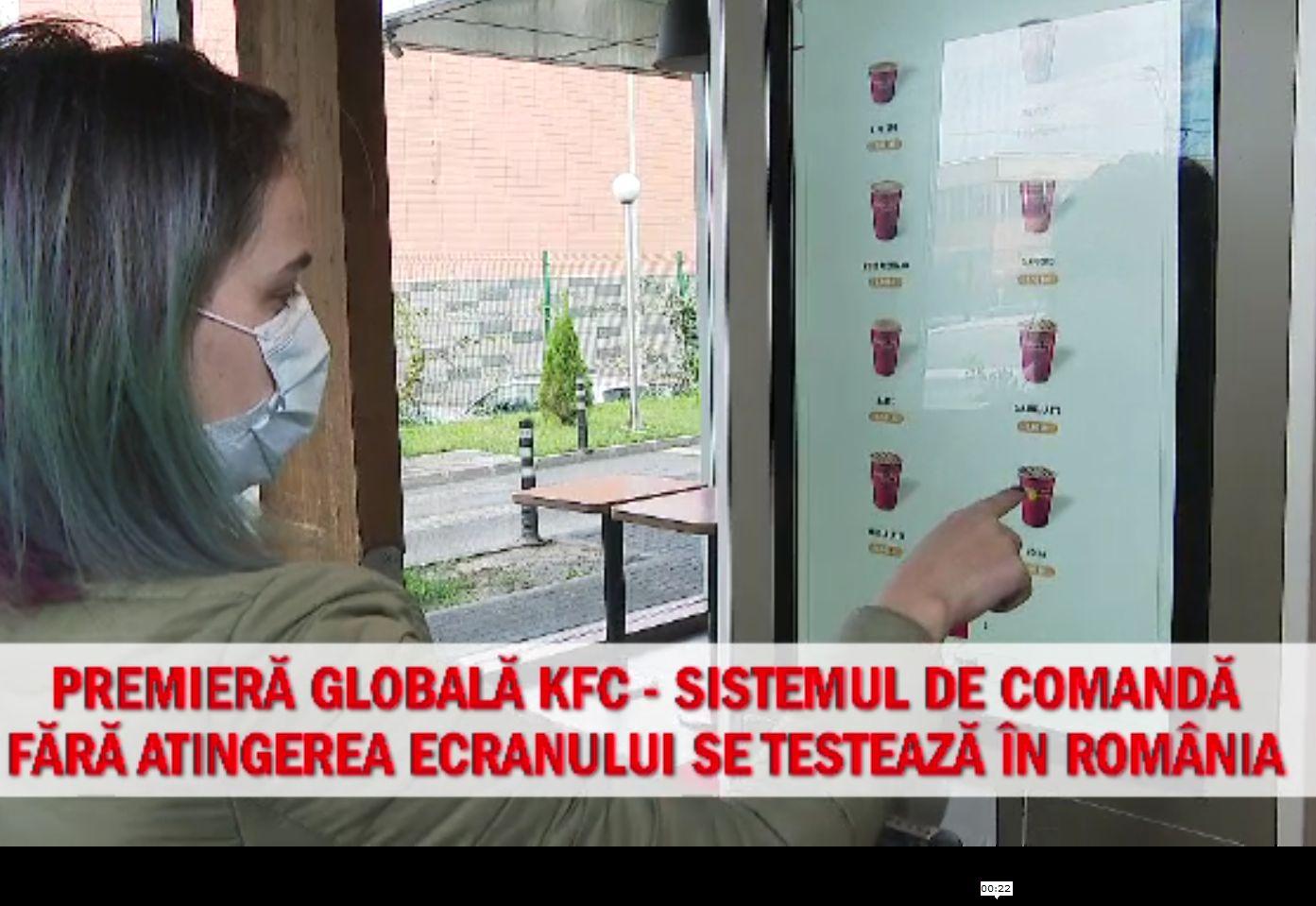 (P) Premieră globală KFC – sistemul de comanda fără atingerea ecranului se testează în România