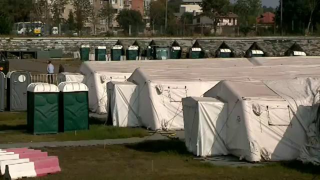 """Spitalul militar modular de pe stadionul """"Portul"""" trebuie demontat și înlocuit"""