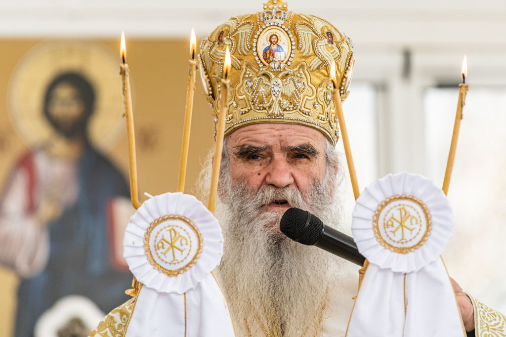 """Mitropolitul Muntenegrului, care spunea că """"pelerinajul este vaccinul lui Dumnezeu"""", a murit de Covid-19"""