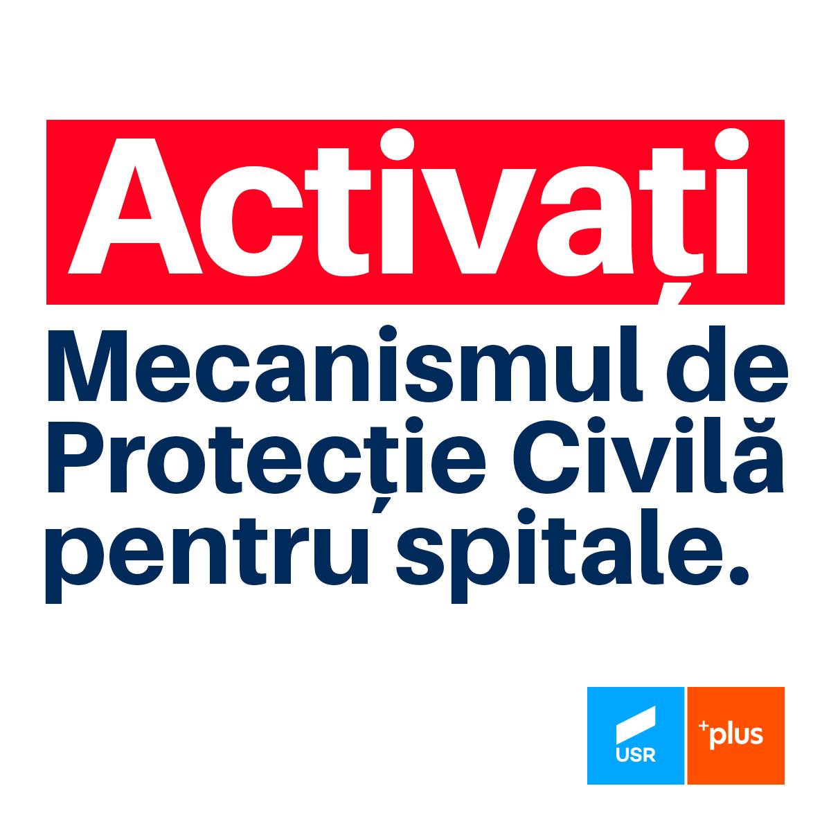 USR-PLUS îi cere iar lui Cîţu activarea mecanismului european de protecţie civilă. Joi premierul spunea că nu este nevoie