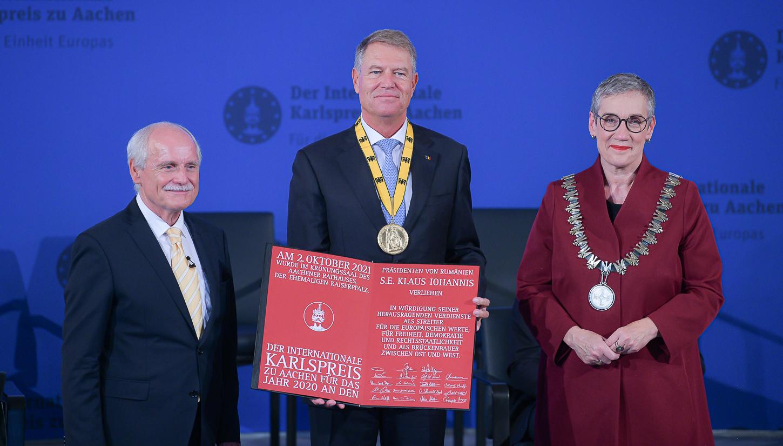 Iohannis, la primirea Premiului