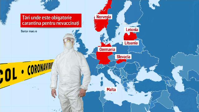 Țările europene care impun carantina obligatorie pentru românii nevaccinaţi