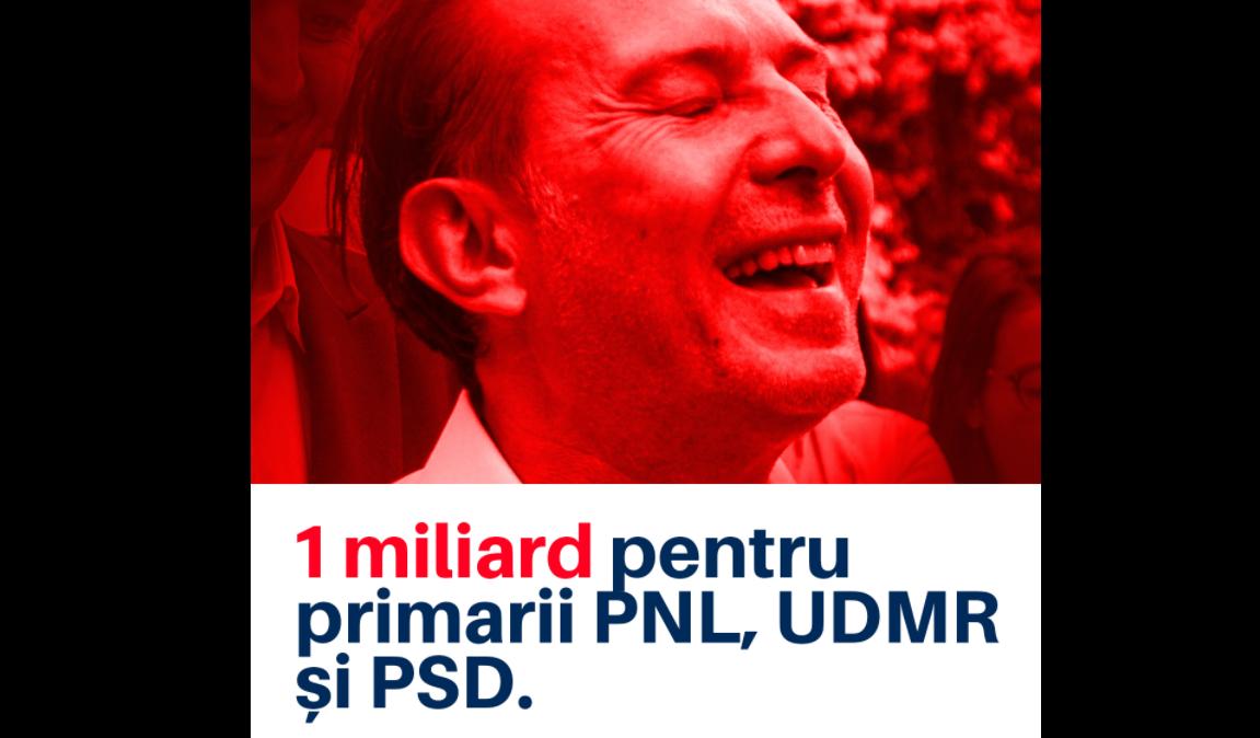 """""""1 miliard pentru primarii PNL și UDMR"""". PSD face plângere penală, USR spune că e """"jaf național"""""""