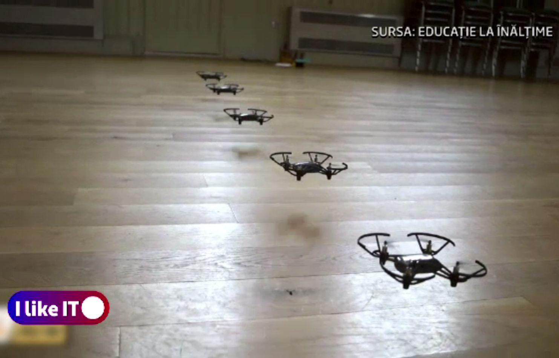 Educația la înălțime, la propriu. Cum se transmit live lecțiile cu drona, în mai multe zone din România