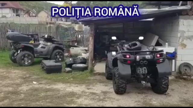 Cum au descoperit niște polițiști români două ATV-uri furate din Germania