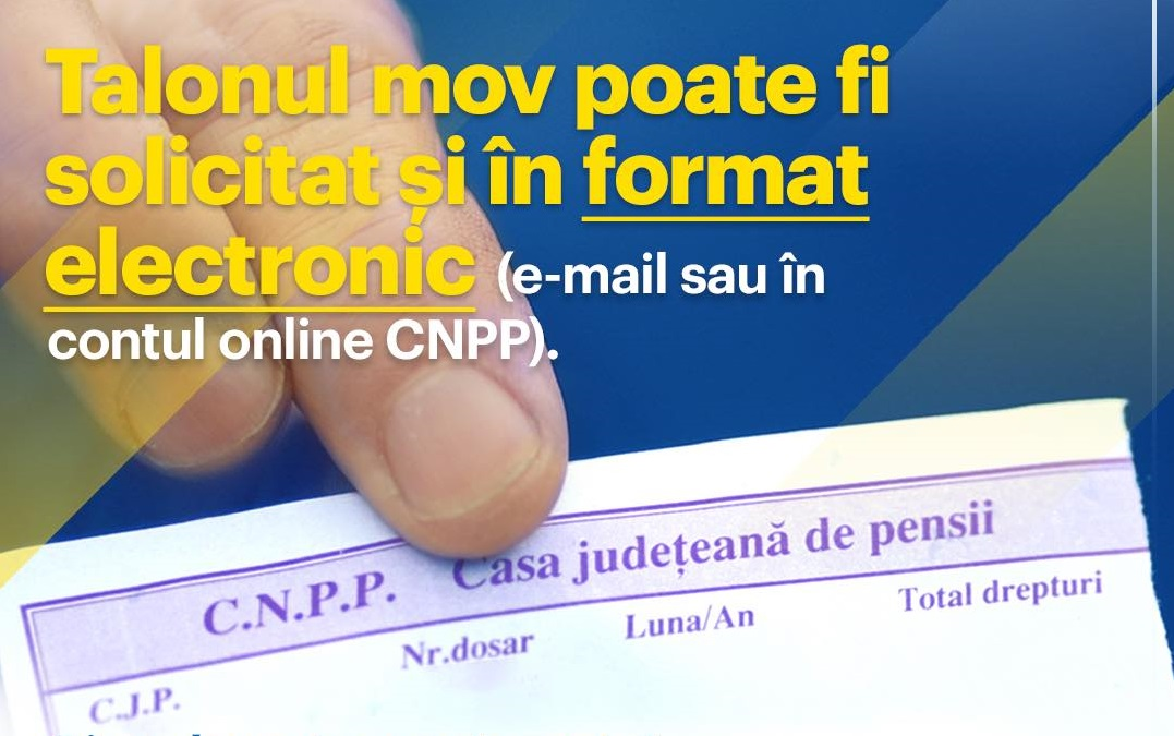 Pensionarii care primesc pensiile pe card vor primi talonul online, fără să mai aştepte poştaşul. Legea a fost adoptată