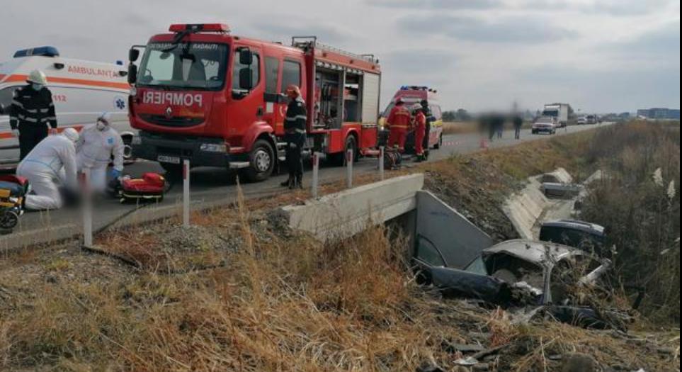 Accidentul cu 3 morți din Suceava a avut loc în timp ce mașina, un Audi A6 cu volan pe dreapta, era probată pentru vânzare
