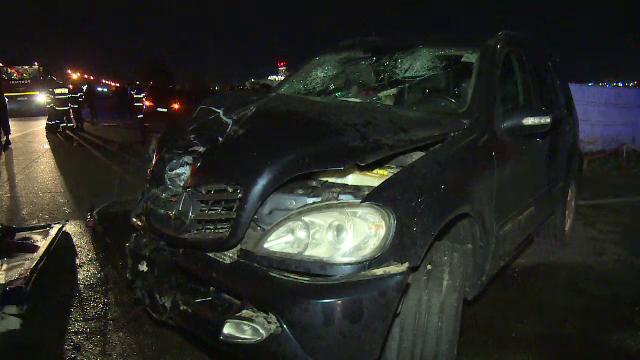 Accident în județul Prahova, între o mașină de teren și o cisterna plină cu motorină. Doi bărbați au ajuns la spital