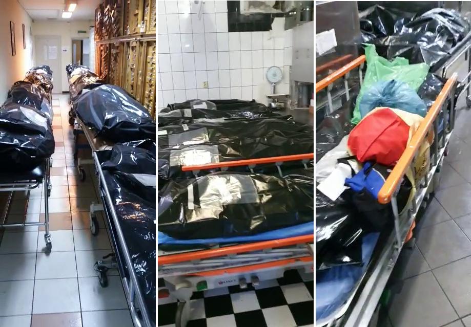 Imagini cutremurătoare. Morții COVID nu mai au loc la morga Spitalului Universitar din București