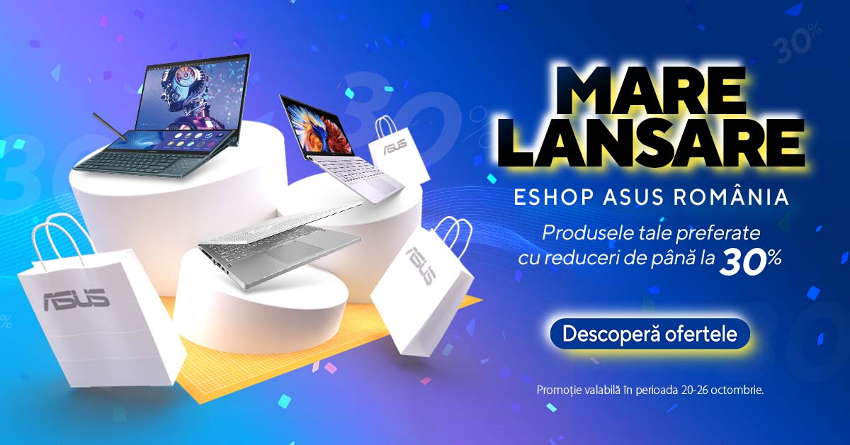 (P) Site-ul global ASUS integrează eShop-ul pentru utilizatorii din România