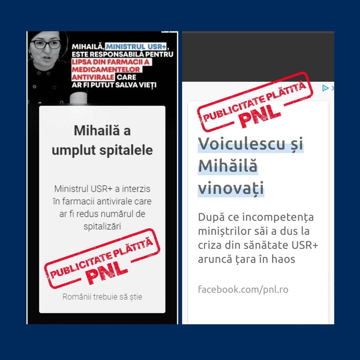 Cioloș acuză PNL că a folosit bani publici pentru o campanie împotriva lui Mihăilă și Voiculescu