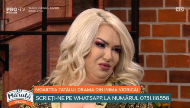 Viorica de la Clejani, în lacrimi la Măruță. Tatăl ei a murit în acest an pentru că nu s-a dus la spital