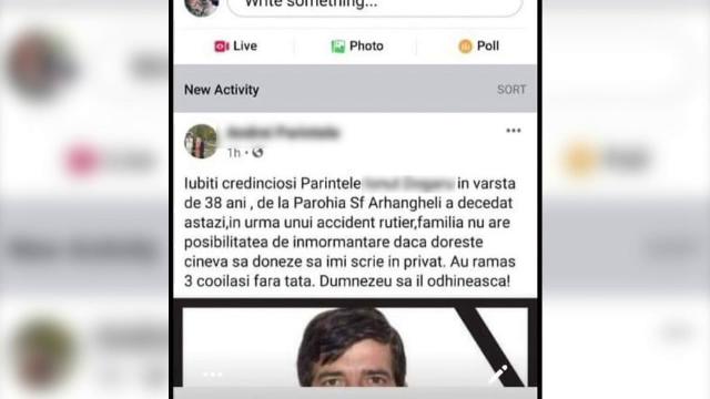 Enoriași păcăliți să doneze pentru înmormântarea unui preot mort de un an, printr-o postare pe Facebook