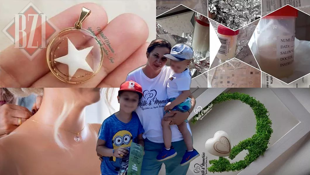 Bijuterii din lapte matern și cordon ombilical, realizate de o mamă din Iași. Andreea se laudă cu comenzi serioase