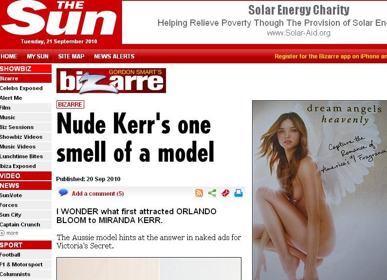Miranda Kerr, ingerasul gol-golut!