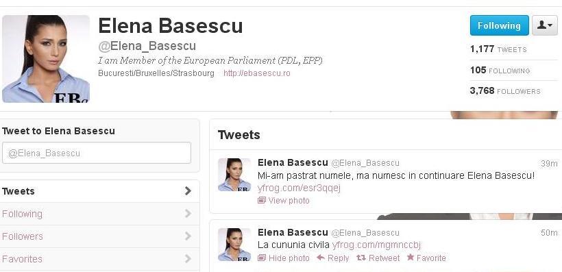 EBA, pe Twitter, in timpul nuntii: