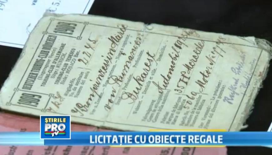 Cum si-a obtinut Regina Maria permisul de conducere, acum 103 ani. Obiectul va fi scos la licitatie