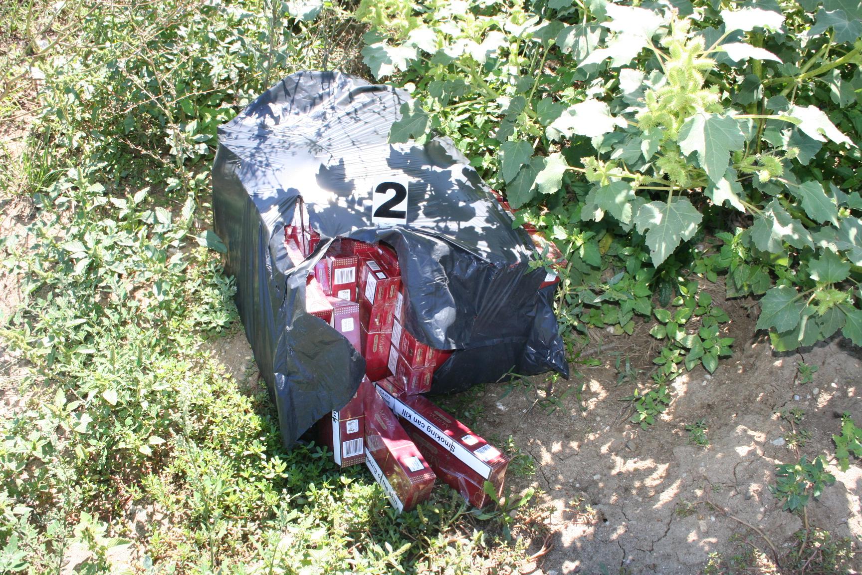 Peste 1.500 de pachete de tigari confiscate la frontiera cu Ucraina