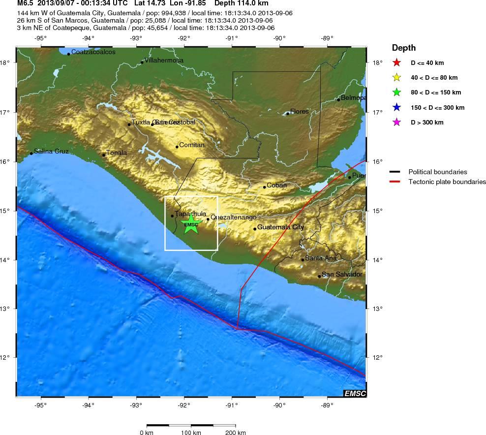 Un cutremur cu magnitudinea de 6,5 grade a zguduit Guatemala si El Salvador