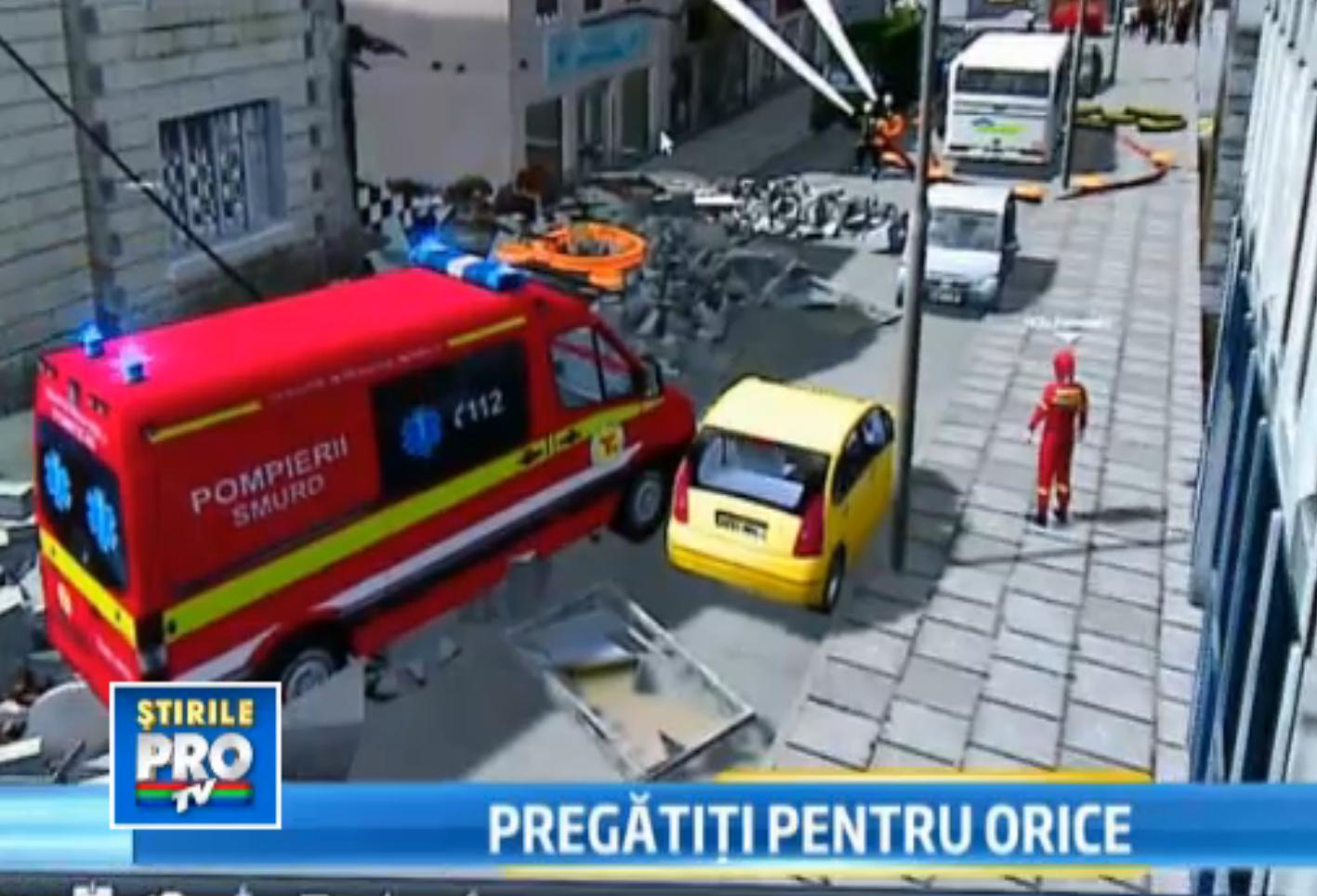 Simulatorul de cutremur a pregatit Ardealul de un seism urias. A marcat 20 de ani de SMURD Sibiu