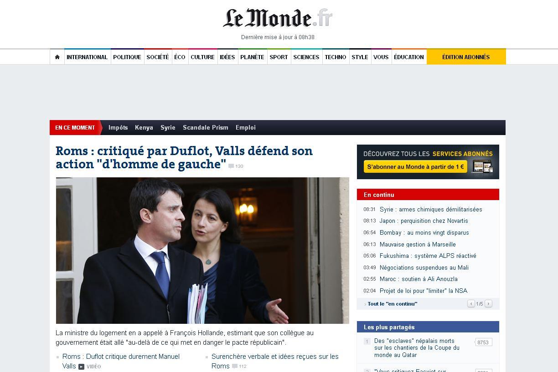 Ministrul francez al Locuintelor critica declaratiile colegului Manuel Valls pe tema romilor