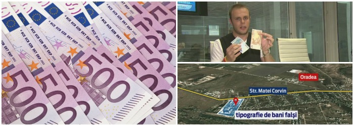 Mandate de arest pentru trei suspecti care actionau la fabrica de bani falsi din Oradea. Gruparea era monitorizata de un an