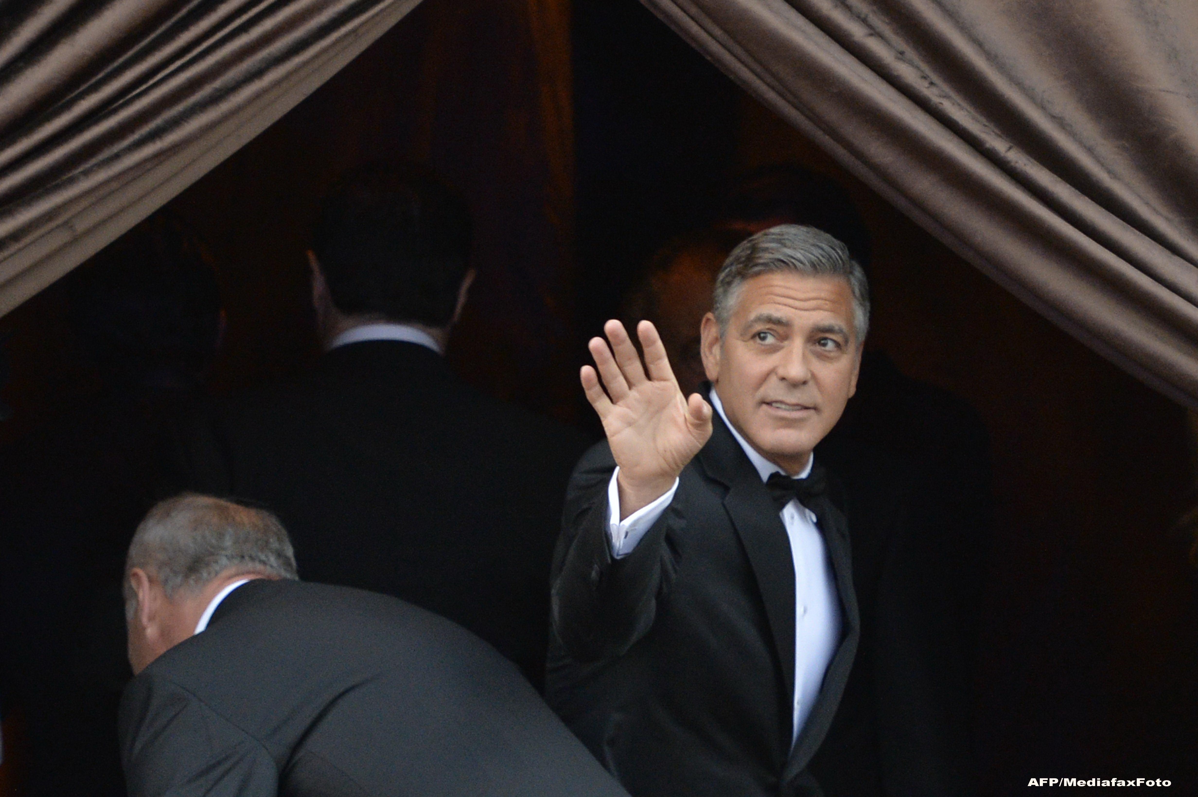 George Clooney s-a casatorit cu Amal Alamuddin. Ce VIP-uri s-au aflat printre cei 136 de invitati la nunta. GALERIE FOTO