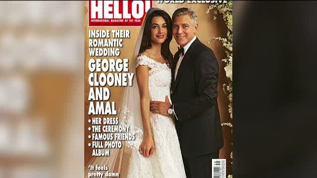 Primele poze de la nunta lui George Clooney cu Amal Alamuddin. Declaratia actorului dupa ceremonie