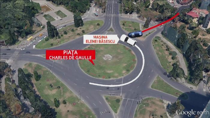 ANIMATIE GRAFICA. Cum a avut loc accidentul din Capitala in urma caruia Elena Basescu a ajuns la spital
