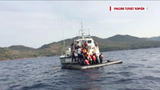 Cativa turisti romani aflati in Grecia au filmat momentul in care o barca plina cu imigranti se scufunda. Cum au fost salvati