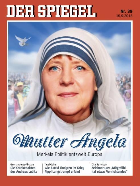 Angela Merkel, comparata cu Maica Tereza pe coperta ultimului numar din