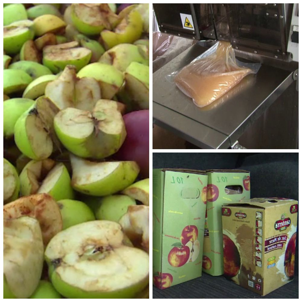 Mai mult suc de mere decat fructe pe tarabe, din cauza secetei. Solutia salvatoare la care au apelat proprietarii de livezi