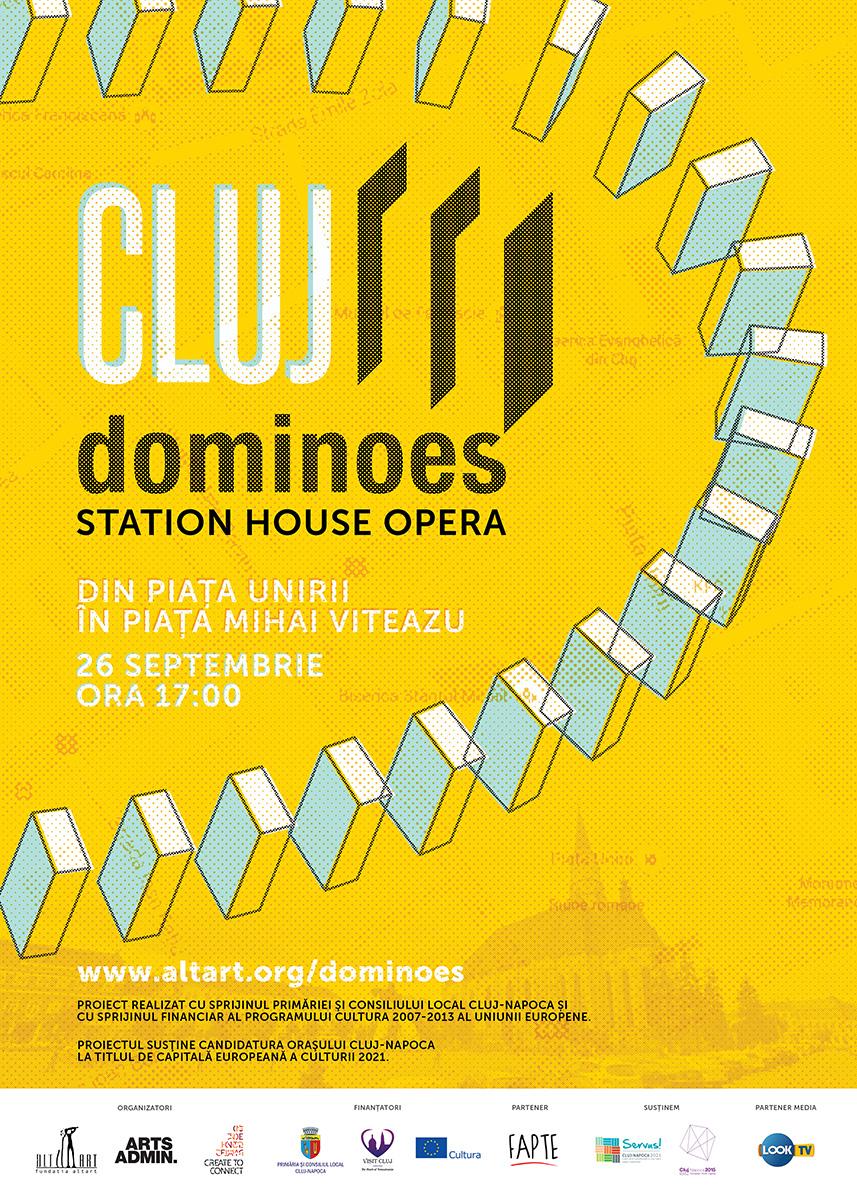 Cluj Dominoes. Peste 3.000 de piese de domino vor uni in weekend Piata Unirii de Piata Mihai Viteazu