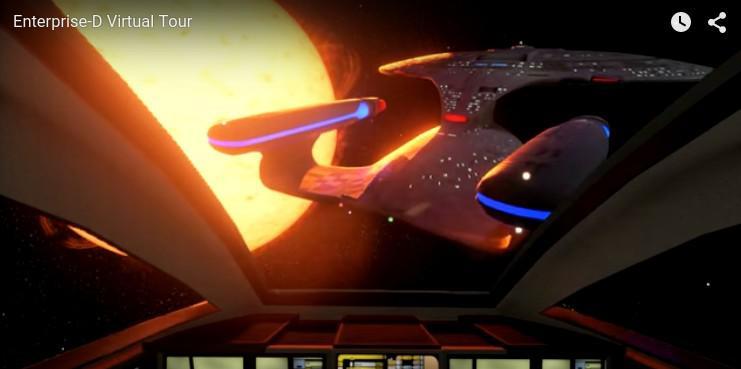 Cea mai buna reclama pentru un joc online. Tur virtual pe nava spatiala Star Trek USS Enterprise. VIDEO