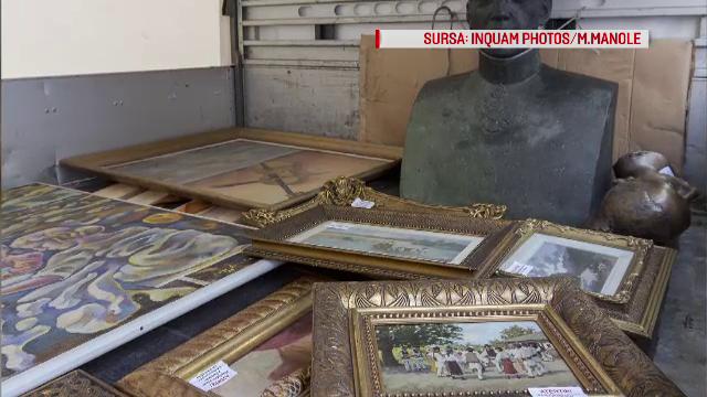 Licitatie cu tablouri si sculpturi ale lui Paul de Romania, in camion, in fata casei lui. Cum s-a ajuns la aceste scene