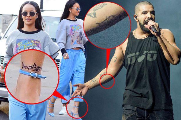 Rihanna si Drake si-au facut tatuaje identice. Ce semnificatie speciala are pentru ei rechinul de camuflaj. FOTO