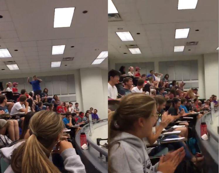 Gestul acestui student i-a adus lui si colegilor sai nota 10 la examen. Ce pariu a pus cu profesorul. VIDEO