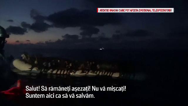 150 de refugiati, salvati de paza de coasta italiana. Imagini dramatice surprinse in timpul operatiunii