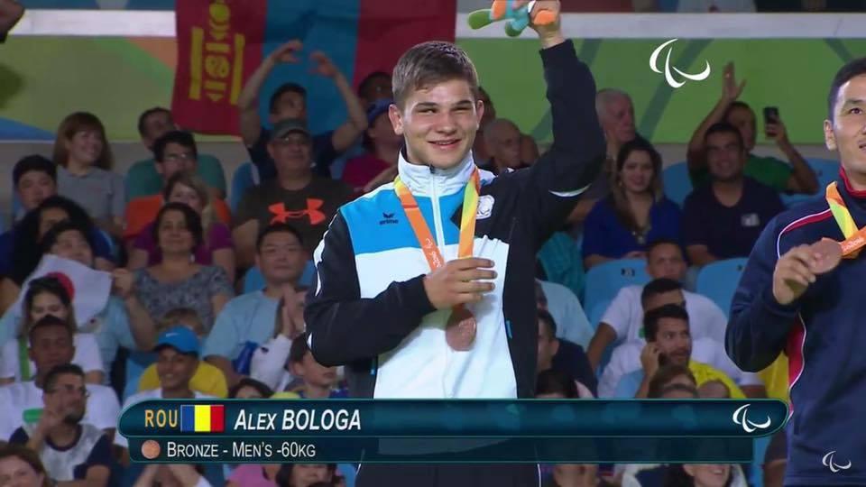 Judoka Alex Bologa, complet nevazator, a castigat medalia de bronz la Jocurile Paralimpice de la Rio